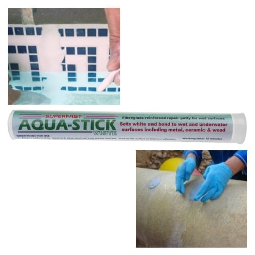 Superfast Aqua Stick for the fast and permanent repair to wet, damp or underwater surfaces