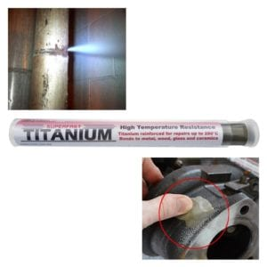Superfast Titanium Stick for repairs to pipework and high-temperature applications