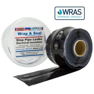Wrap & Seal Pipe Burst Repair Tape is an easy-to-use, self-fusing tape which can be used to seal live leaks on pipes