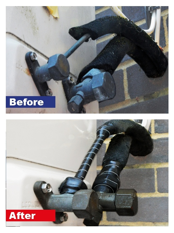 Electrical insulation repair carried out using Wrap & Seal