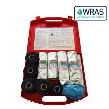 SylWrap Pipe Repair Contractor Case containing all the equipment needed to carry out multiple leak repairs to pipes of all sizes
