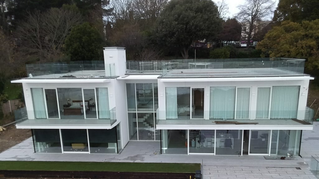 A dream house in Essex at which Sylmasta Liquid Rubber helped to fix a roof terrace leak