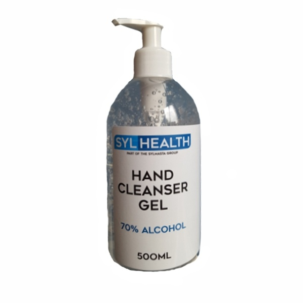 SylHealth 70% Alcohol Hand Sanitiser Gel comes with a pump action handle for easy application