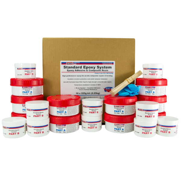 Sylmasta Standard Epoxy 19000 is a brushable epoxy adhesive used for high-strength bonding and patch repairs of leaking tanks, pipes and vessels