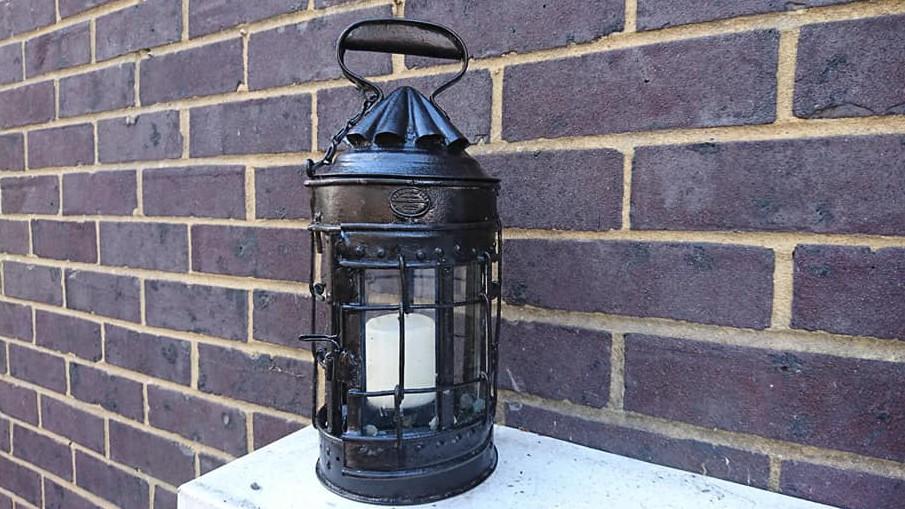 A 19th century lantern that underwent restoration using Superfast Steel Epoxy Putty Stick